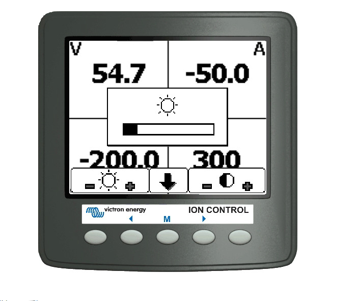Victron Lithium Ion battery remote display
