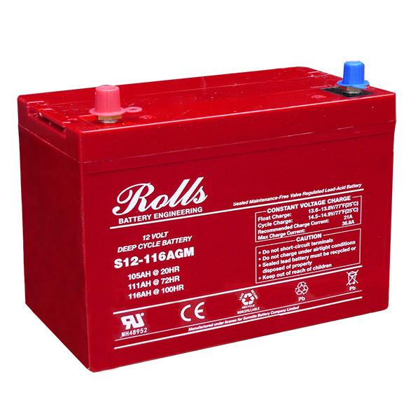 Battery - Rolls AGM - 12V 105AH (20hr)