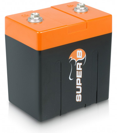 Super B Lithium Ion Starter/Power Battery 10 Ah @ 13.2 V (0.132 Khw).