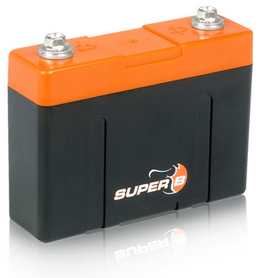 Super B Lithium Ion Starter/Power Battery 2.6 Ah @ 13.2 V (0.034 Khw).