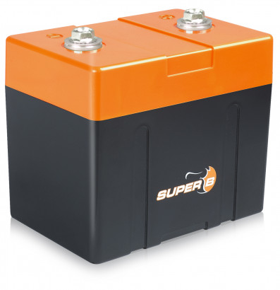 Super B Lithium Ion Starter/Power Battery w7.8 Ah @ 13.2 V (0.103 Khw)