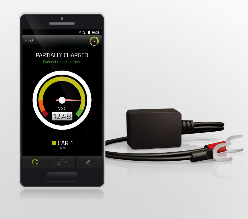 Battery Guard Bluetooth monitoring voltmeter